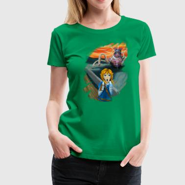 The Guardian Scream - Painterly - Women's Premium T-Shirt