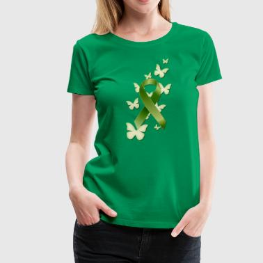 Green Awareness Ribbon - Women's Premium T-Shirt