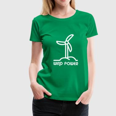 WIND POWER - WINDENERGY - RENEWABLE ENERGY SHIRT - Women's Premium T-Shirt