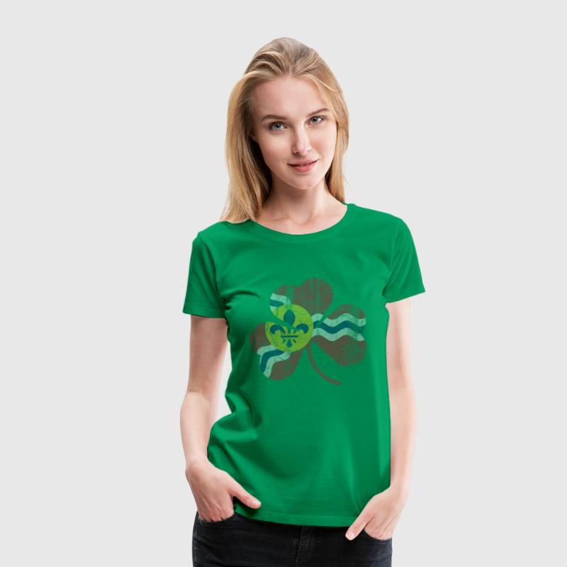 Vintage Irish Flag of St Louis Shamrock - Women's Premium T-Shirt