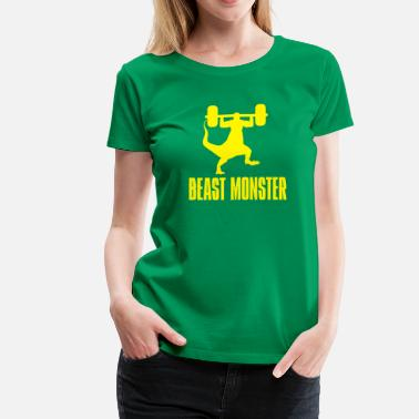 Funny Humor Beasts Funny Gym Beast Monster - Women's Premium T-Shirt