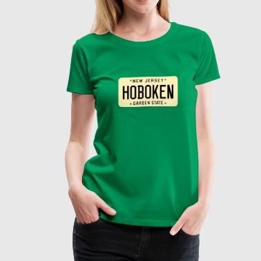 License Plate Hoboken New Jersey License Plate - Women's Premium T-Shirt
