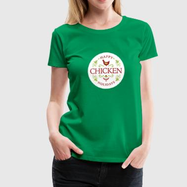 Golden Egg Shop happy chicken holidays - Women's Premium T-Shirt