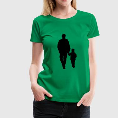 walking family silhouettes - Women's Premium T-Shirt