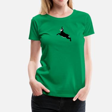 Karibu Mountaingoat Chamois Gemse jumping - Women's Premium T-Shirt