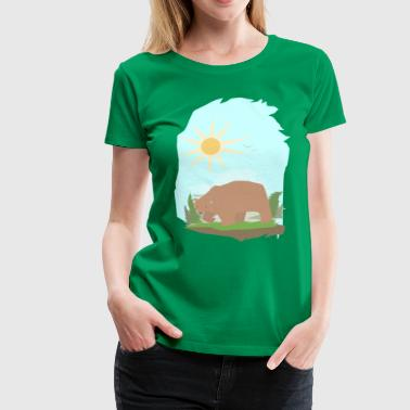 The Grizzly Bear - Women's Premium T-Shirt