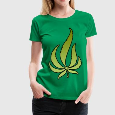 Pot Leaf - Women's Premium T-Shirt