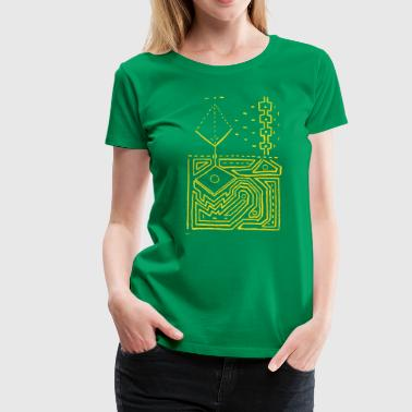 PowerLines 1 - Women's Premium T-Shirt