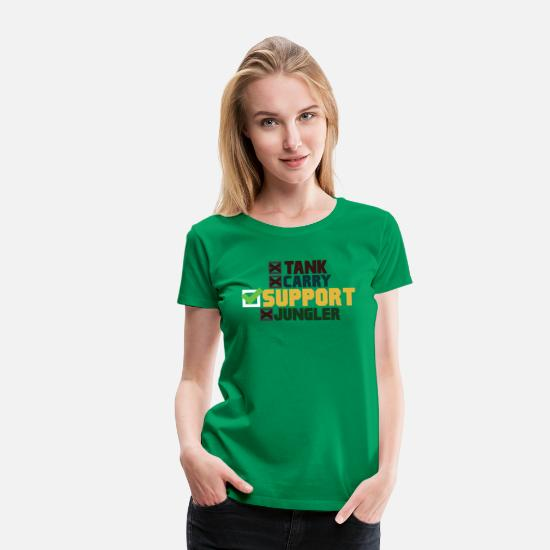 New T-Shirts - SUPPORT League of Legends - Women's Premium T-Shirt kelly green