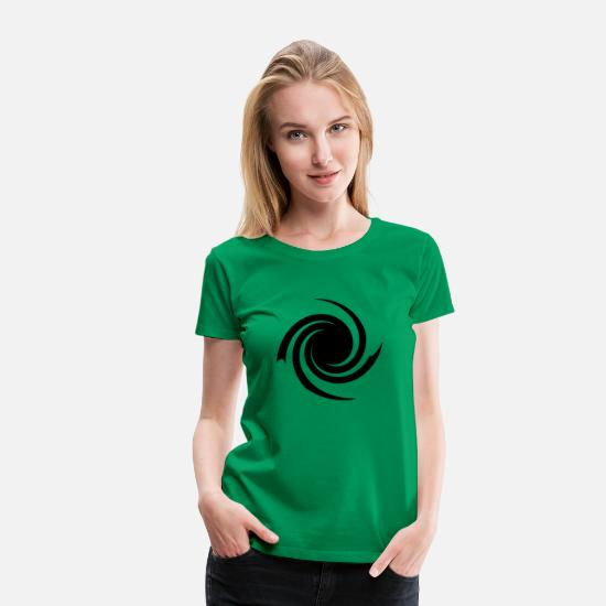 Shape T-Shirts - twist - Women's Premium T-Shirt kelly green