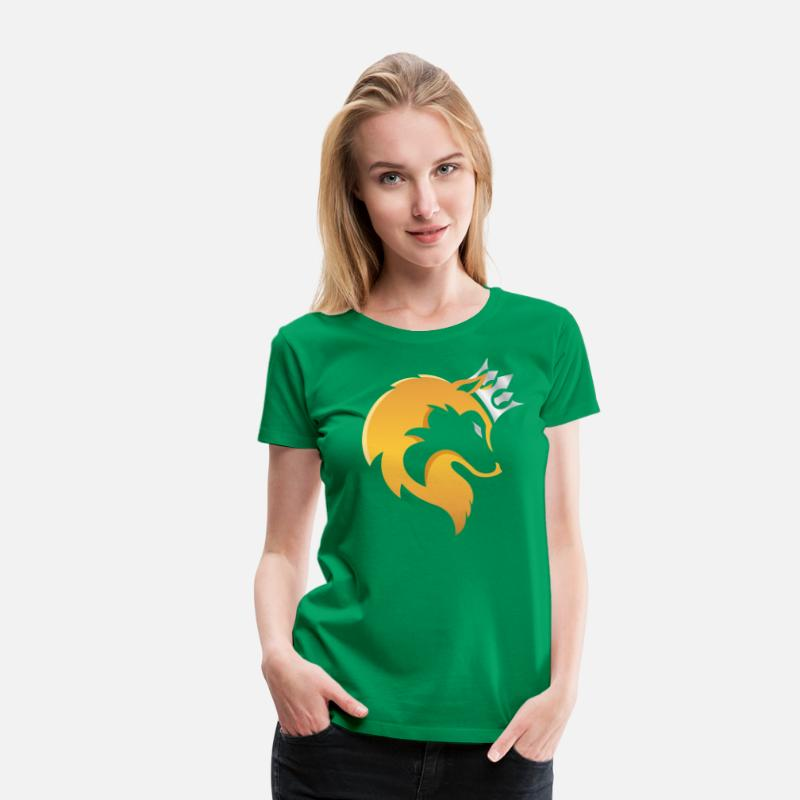 Clothing T-Shirts - CashKaa: Only for Alphas - Women's Premium T-Shirt kelly green