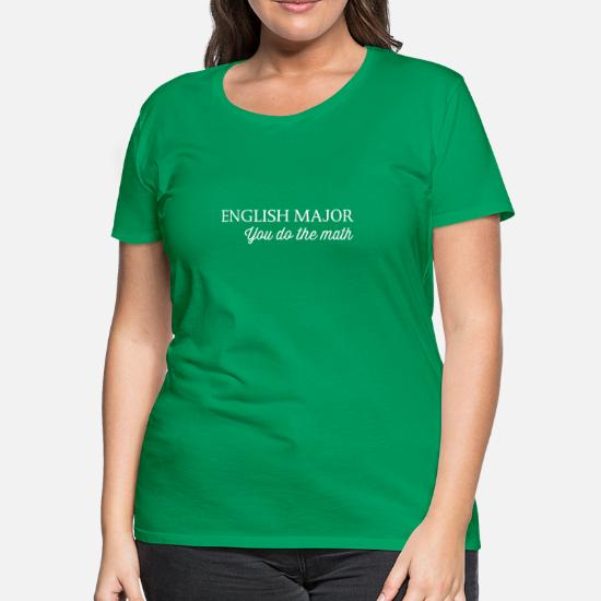 Mad Over Shirts Im An English Major You Do The Math Unisex Premium Tank Top