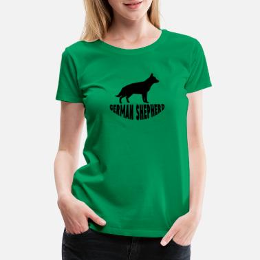 German Shepherd Silhouette German Shepherd Silhouette - Women's Premium T-Shirt