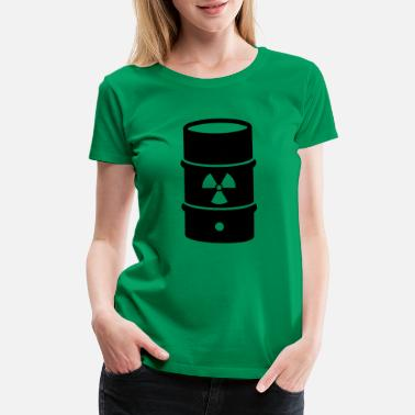 Nuclear Energy atomic waste biohazard nuclear energy - Women's Premium T-Shirt