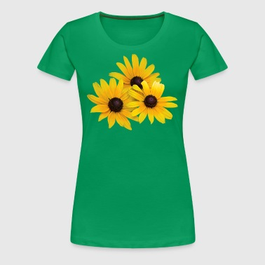 Trio of Black-Eyed Susans - Women's Premium T-Shirt