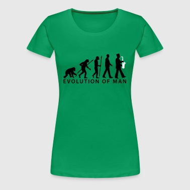 evolution of man marching band saxophone_112015_ - Women's Premium T-Shirt