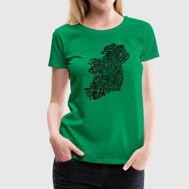 Ireland Typography Map - Women's Premium T-Shirt