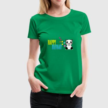 happy birthday panda - Women's Premium T-Shirt
