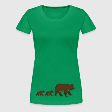 mother bear and baby - Women's Premium T-Shirt