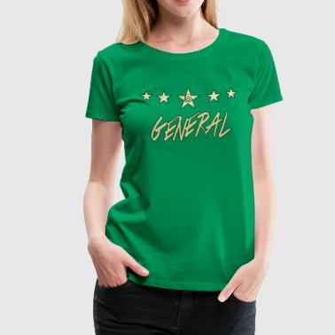 The Khaki General; khaki bold, with green finishes - Women's Premium T-Shirt
