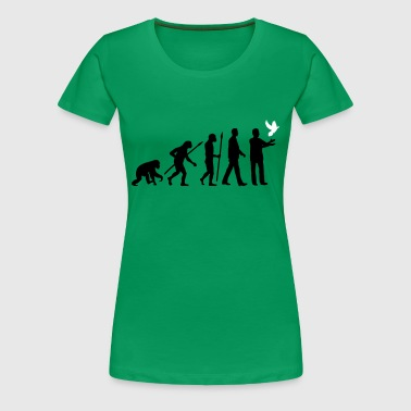 evolution_of_man_taubenzuechter02_2c - Women's Premium T-Shirt