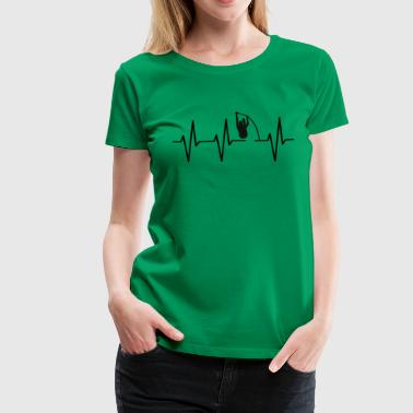 My heart beats for pole vault! heartbeat gift - Women's Premium T-Shirt
