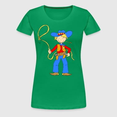 Cowboy with Lasso - Women's Premium T-Shirt