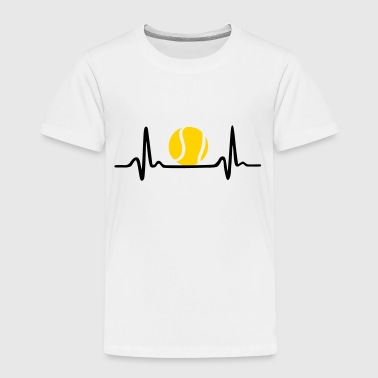 Tennis ECG, Heartbeat & Tennis Ball - Toddler Premium T-Shirt