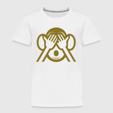 3 Wise Monkeys Mizaru 見ざる See NO Evil Emoji - Toddler Premium T-Shirt