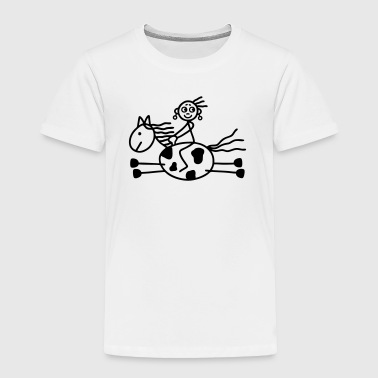 Rider woman - Western Riding - Toddler Premium T-Shirt