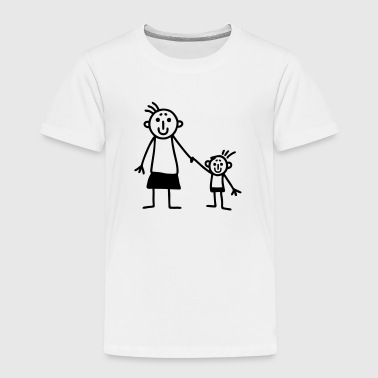 Mom and son - Toddler Premium T-Shirt