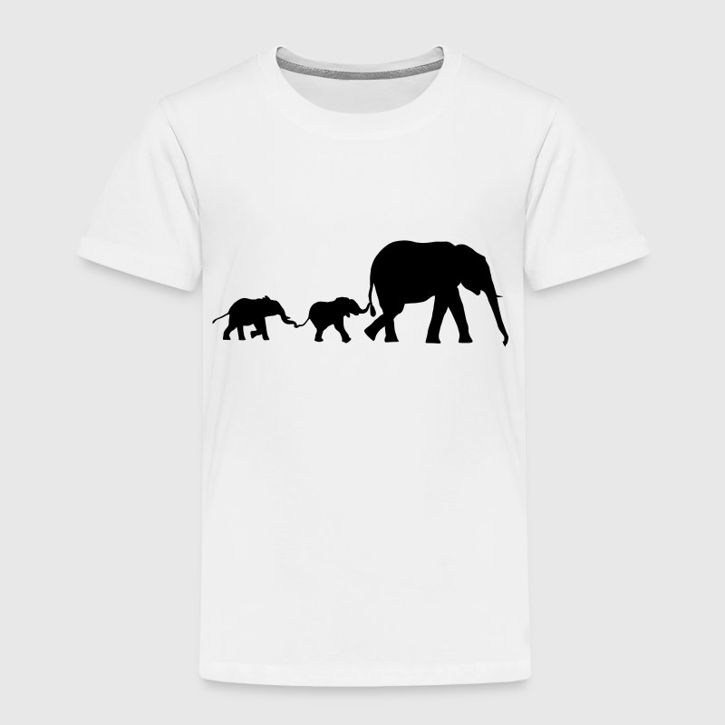 elephant family, elephants - Toddler Premium T-Shirt