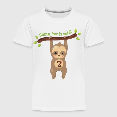 Cute Sloth 2nd Birthday - Toddler Premium T-Shirt
