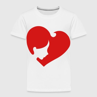 heart_face - Toddler Premium T-Shirt