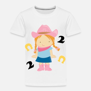 2nd Birthday 2nd Birthday Cowgirl - Toddler Premium T-Shirt