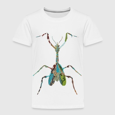 Insect artTS collage art INSECT : MANTIS praying greenz  - Toddler Premium T-Shirt