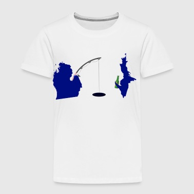 Michigan Upper Peninsula Cute Fishing - Toddler Premium T-Shirt