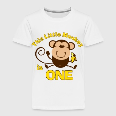 1st Birthday Monkey Boy - Toddler Premium T-Shirt