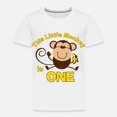 1st Birthday For A Boy 1st Birthday Monkey Boy - Toddler Premium T-Shirt