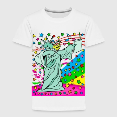 Dabbing Dab Statue of Liberty Hip Hop Disco Party - Toddler Premium T-Shirt