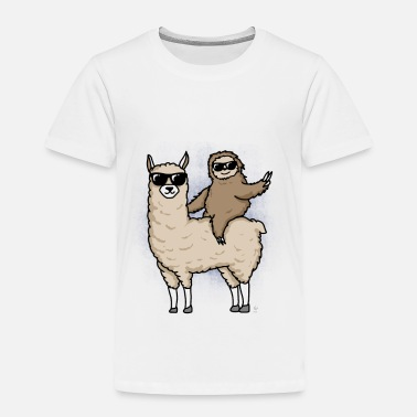 Sloth Llama and sloth gift - Toddler Premium T-Shirt