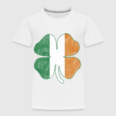 Irish Flag Shamrock Grunge - Toddler Premium T-Shirt