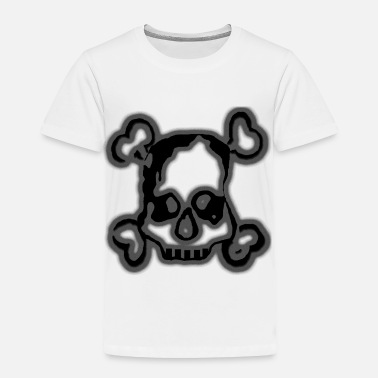 Skull-bone-yellow Skull and Bones - Toddler Premium T-Shirt
