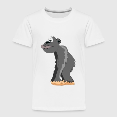 Cartoon Gorilla - Toddler Premium T-Shirt