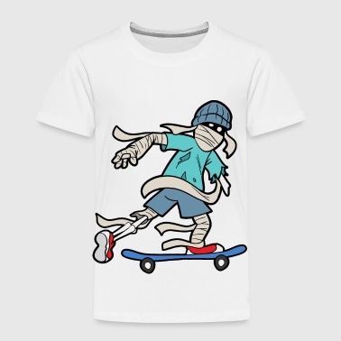 Skateboarding Skateboarder Skating Skate Skeleton - Toddler Premium T-Shirt