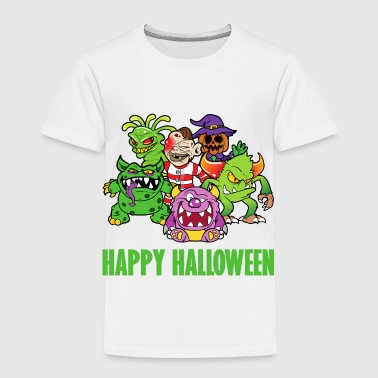 Halloween Monster Zombie Horror Skelett Skull Bone - Toddler Premium T-Shirt