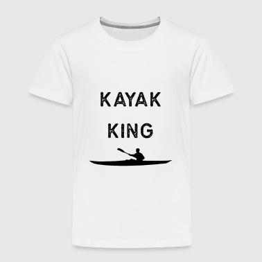 Kayak Design Kayak King Dark Kayaking Fishing Gift Rowing - Toddler Premium T-Shirt