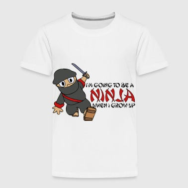 Master Be a Ninja When I Grow Up Ninja Cute Kids Youth - Toddler Premium T-Shirt