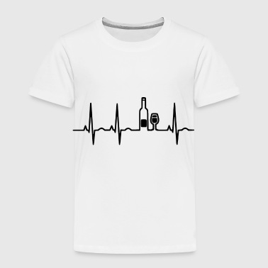 Wine wein heartbeat - Toddler Premium T-Shirt