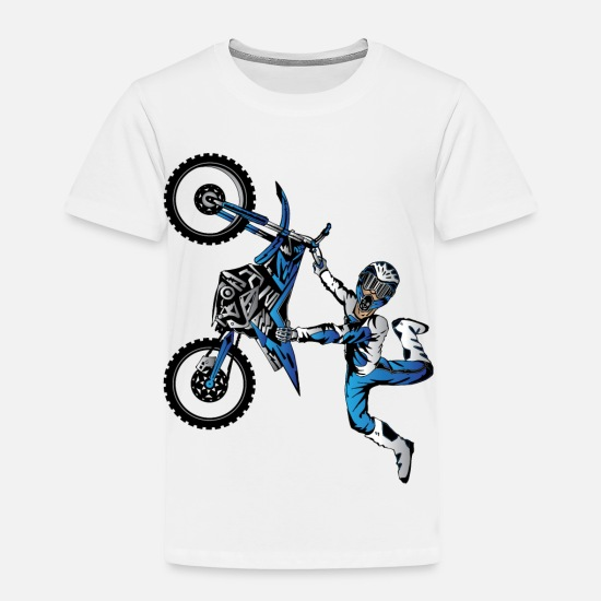 Motocross Baby Clothing - Yamaha Freestyle Motocross - Toddler Premium T-Shirt white
